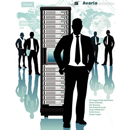 Avaria Networks - man with business server