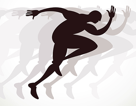 man running silhouette - speed up your business networks